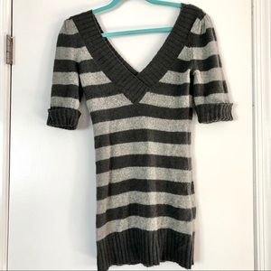 Guess Sweater striped v-neck tunic women's